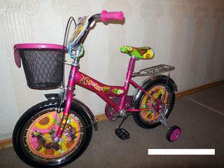 """Детский велосипед Mustang-"""" Маша и Медведь"""""""