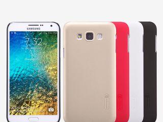 Samsung Galaxy E7 чехол Nillkin Frosted Shield + защитная плёнка