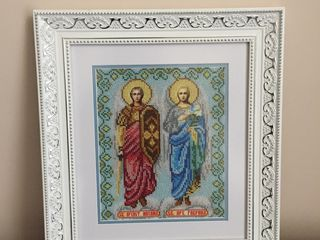 Icoana Sfintii Arhangheli Mihail si Gavril cu biser