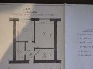 Apartament 2 camere Orhei cartier Nordic 16900 €