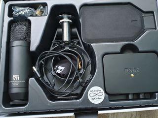 Новый Студийный микрофон rode nt1-kit ; микрофонная стойка rode psa1