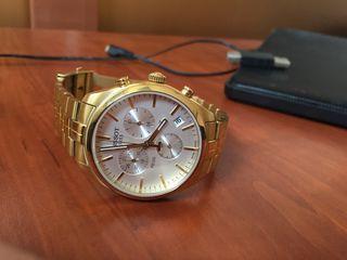 Срочно! Продам оригинал, позолоченные 18к часы Tissot PR100!