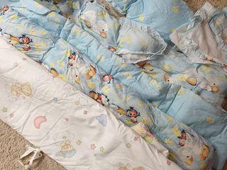 Комплект белья в кроватку- 250 лей