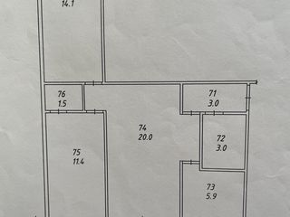 3-х комнатная квартира (солнечная сторона)