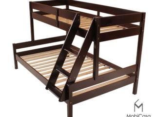 Pat Mira cu 2 nivele din lemn natural