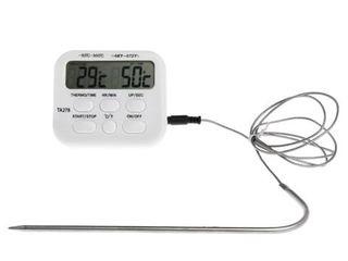 Термометр часы  мясо гриль гигрометр  влагомер termometru cuptor ceas sushii rulouri carne Grill