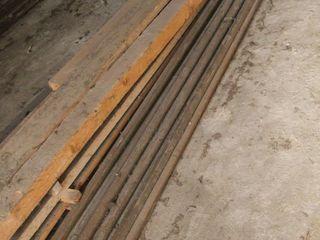 Трубы металлические б.у. 25 мм. Длина 4метра,Уголок металический 50 мм,длина 4 метра,