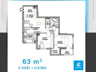 Apartament 2 camere + salon, prima rata 25 %