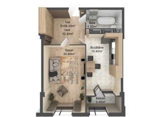Однокомнатная квартира по лучшей цене 27560 евро от застройщика, красный кирпич, парк, Kaufland!