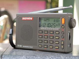 RADIWOW R-108 радио цифровой портативный радио FM стерео/LW/SW/MW/AIR/приемник DSP с ЖК дисплей/высо