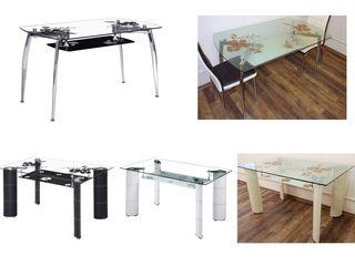 Распродажа! Столы обеденные из стекла и металла - от 1200 лей! Продажа в кредит!