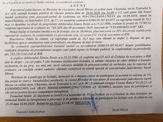 Licitatie de vinzare imobil 58160 lei