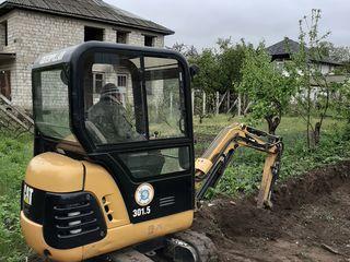 Аренда! Услуги! Мини экскаватора! Chirie, Servicii Mine excavator.