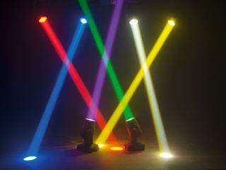 Set lumini profesionale de 6 metre.beam spot 2 in1led 200w 4 capuri rotative + 4 par 18x15w rgbwa