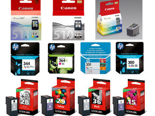 Kартриджы, Cartuse: HP Canon Samsung Lexmark Epson Brother Kyocera