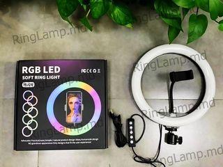 Для детей, Tik-Tok кольцевая лампа 26 см RGB(многоцветная) +штатив 2,1м +подарок