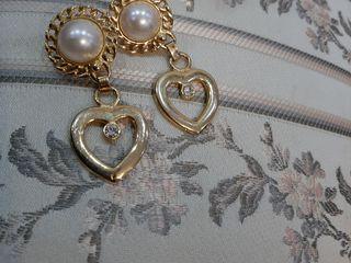 Cercei Italieni vintage poleiti cu aur.