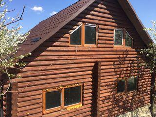 Casă din lemn, 2 nivele+mansardă, 6 ari, 160 mp Zonă ecologică!