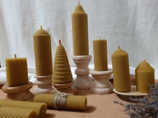 Lumânări din ceara naturala de albine