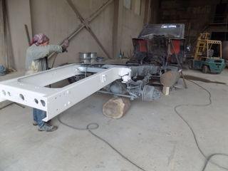 Пескоструйная обработка тягачей прицепов