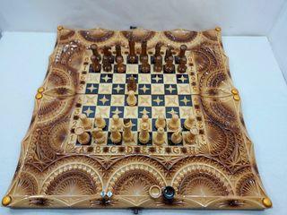 В наличие нарды резные шахматы картина*Геометрия с Самураями*эксклюзив