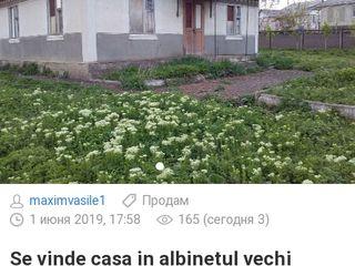 Vind casa in satul Albinetu Vechi or.Falesti