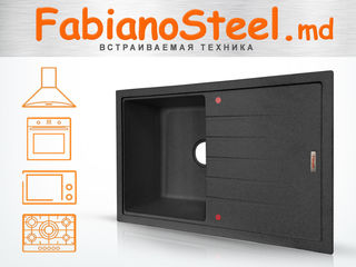 Fabianosteel.md : встраиваемая техника гранитные мойки, Tehnica incorporabila, Chiuvete din granit