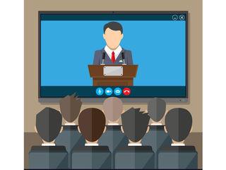 Организация онлайн трансляций в интернет и на экраны.