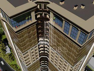 Centru orasului, proiect deosebit, penthouse in varianta alba