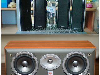 2-x полосные колонки Kenwood black, silver и центральная колонка JBL EС25 3 динамика