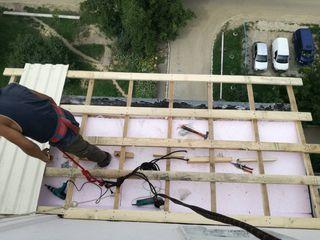 Ремонт крыша балкона из профнастила