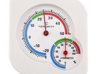 Настольные комнатные термометры с индикатором влажности воздуха   метеостанция с часами - 200 лей (м