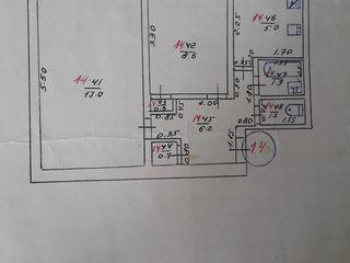 Продается квартира 2 комнаты в г. Корнешты. Уступлю в цене.