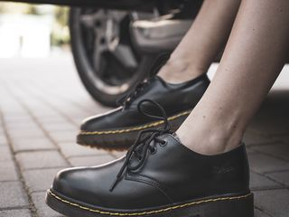 Полуботинки Dr. Martens Unisex 1461 Black Smooth Women's