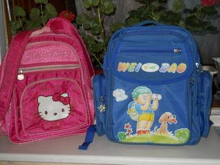 продам два школьных  рюкзака синий за 100 лей розовый за 80 лей