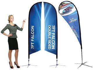 Мобильные флаги для рекламных акций