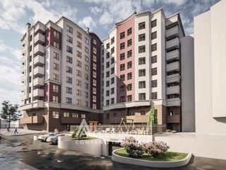 Bloc Nou! Ialoveni, str. Alexandru cel Bun, 2 camere + living. Variantă albă!
