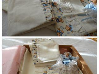 Set pentru patuț Bebe - Baby blue - 100% bumbac