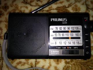 Prunus  j-01 fm/am   mp3 c 2 батаr. 18650. rolton w405 портативный мини fm-радио. mp3--