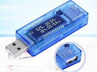 Тестер USB со счетчиком милиаперчасов