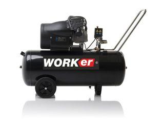 Compresor/ компрессор worker mv 100 l  2,2 kw ! 3 cp, debit  aer 320 l pe min garantie 3 ani