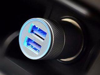 Incarcator universal de automobil Dual USB Dual Port, 2.1A и 1.0A - 60 lei   Автомобильное Зарядное