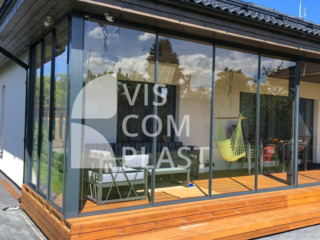 Veranda din sticla cu profile aluminiu * Панорамеые окна *Usi glisante aluminiu pentru terase HoReCa