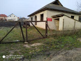 Nisporeni - teren de 10 ari cu casa nefinisata