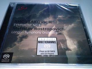 SACD-CD Shostakovich, Symphony 8, DSD, Stereo and Multi-channel, London Symphony Orchestra