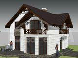Casa terzmoizolata din cotelet, proiect individual 120 mp