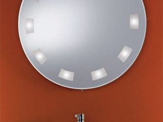 Круглое косметическое зеркало с подсветкой