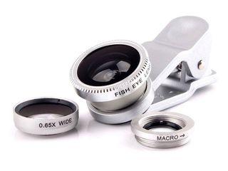 Obiectiv superangular Fisheye Lens 3 in 1 universal