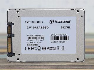Transcend SSD230S 512GB new made in Taiwan TLC 3D NAND sigilat