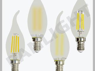 Becuri LED C37, Panlight, becuri cu LED, filament, tuburi cu led, iluminarea cu LED in Moldova